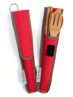 RePEaT Bamboo Utensil Set - Cayenne