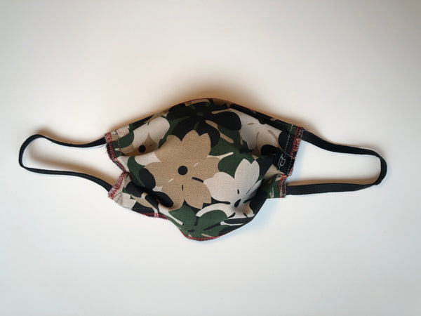 Adult Camouflage Floral Cotton Mask