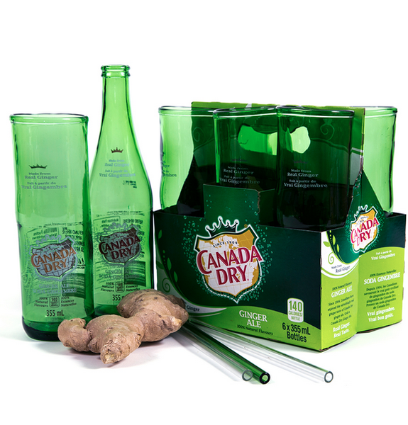 Canada Dry Ginger Ale Beer Glass