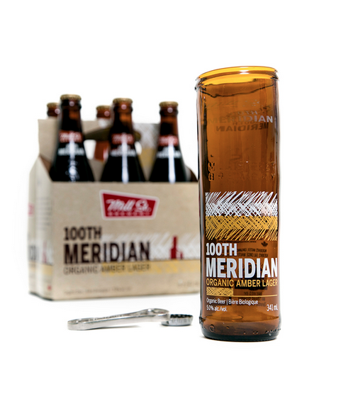100th Meridian Beer Glass