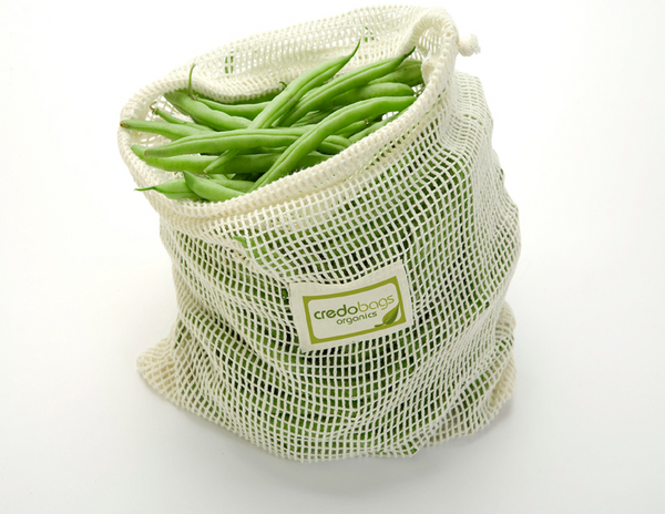 Mesh Produce Bag, 100% Organic Cotton, Medium