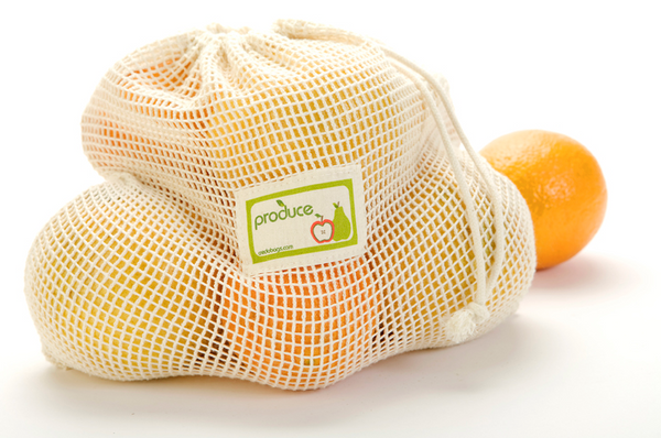 Mesh Produce Bag, 100% Organic Cotton, Large