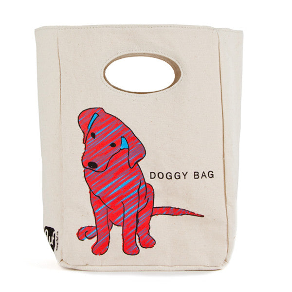 "100% Organic Cotton Lunch Bag ""Doggy Bag"""