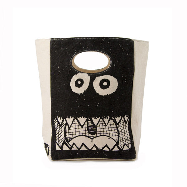 "100% Organic Cotton Lunch Bag ""Big Mouth"""