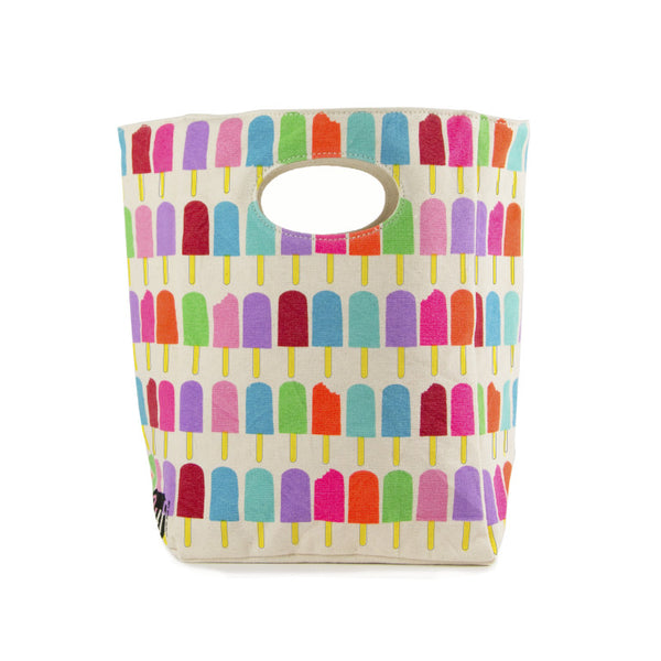 "100% Organic Cotton Lunch Bag ""Popsicle"""