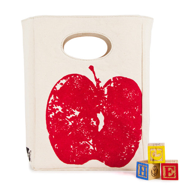 "100% Organic Cotton Lunch Bag ""Red Apple"""