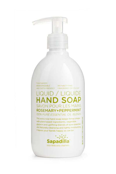 Sapadilla Rosemary + Peppermint Liquid Hand Soap