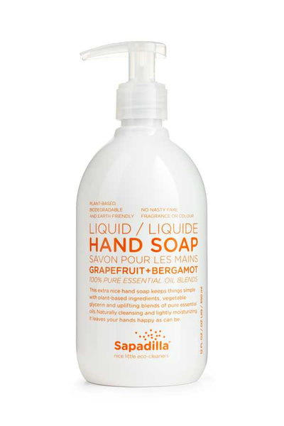 Sapadilla Grapefruit + Bergamot Liquid Hand Soap