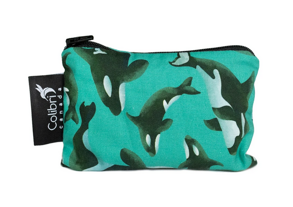 Reusable Snack Bag - Orca, Small