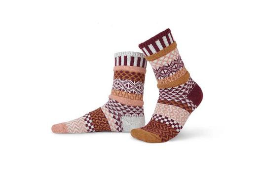 Amaranth Adult Crew Socks