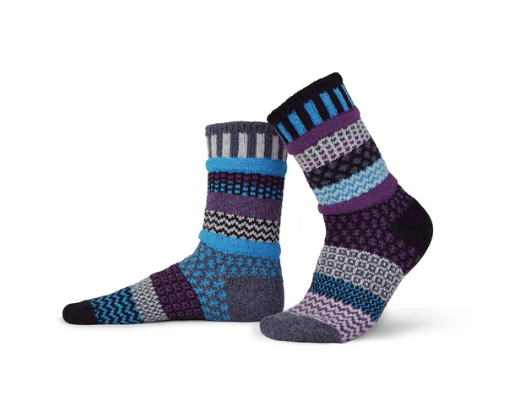 Wool Mulberry Adult Crew Socks