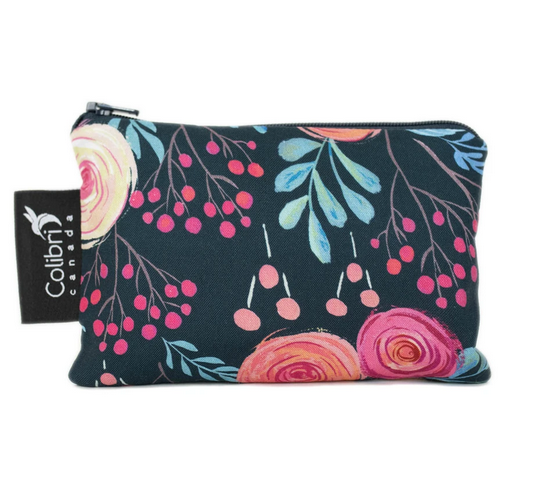 Reusable Snack Bag - Roses, Small