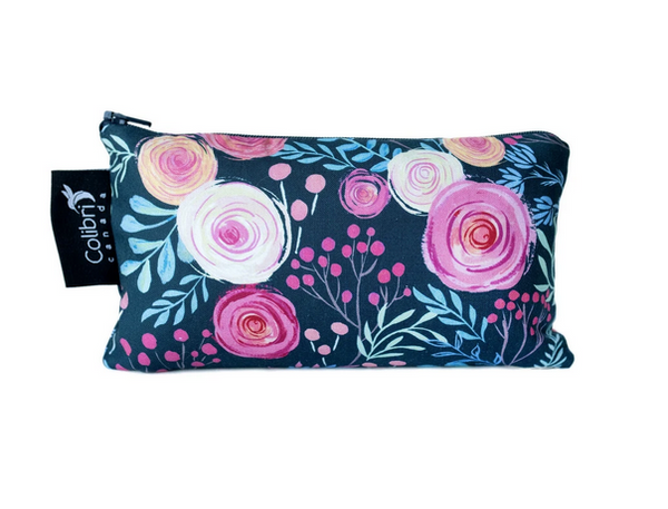 Reusable Snack Bag - Roses, Medium