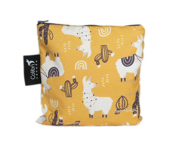 Reusable Snack Bag - Llama, Large