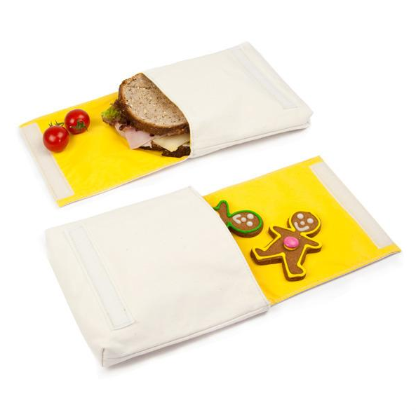 "100% Organic Cotton Snack Packs (set of 2) ""Apple & Orange"""