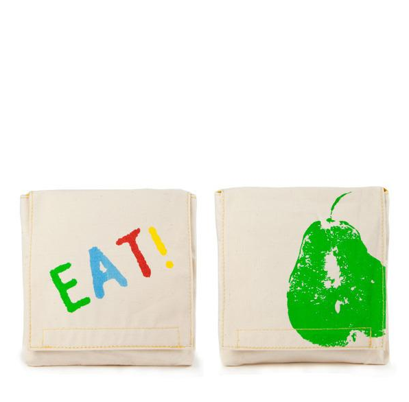 "100% Organic Cotton Snack Packs (set of 2) ""Good Eats"""