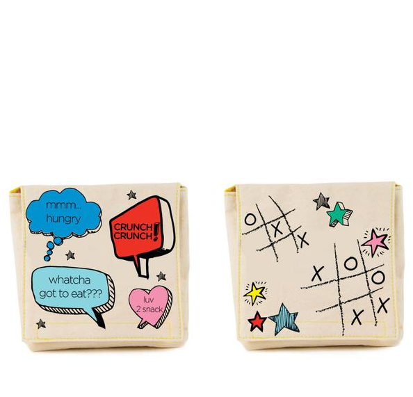 "100% Organic Cotton Snack Packs (set of 2) ""Chatter"""
