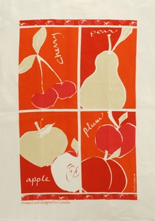 Linen Towel, Fruit Red