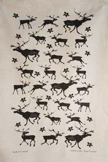 Linen Towel, Caribou Black