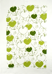 Linen Towel, Apples Green