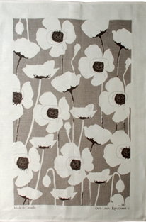Linen Towel, Poppy Taupe