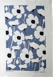 Linen Towel, Poppy Blue