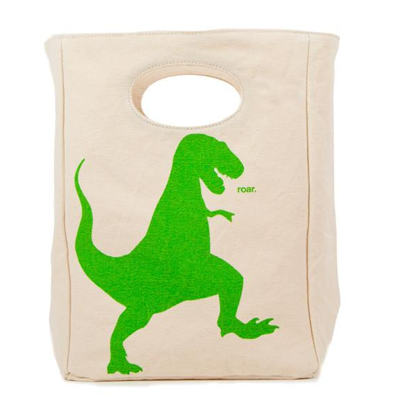 "100% Organic Cotton Lunch Bag ""T-Rex"""