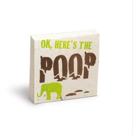 "Scratch Pad Elephant ""Ok, Here's The Poop"""