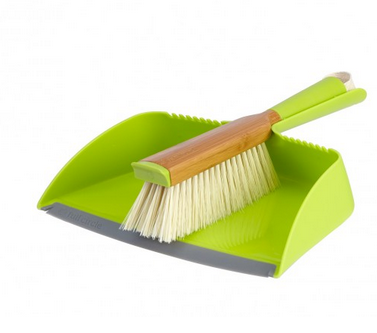 """Clean Team"" Dust Pan & Brush Set"