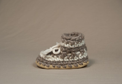 Baby & Child Slippers - Grey Stripe