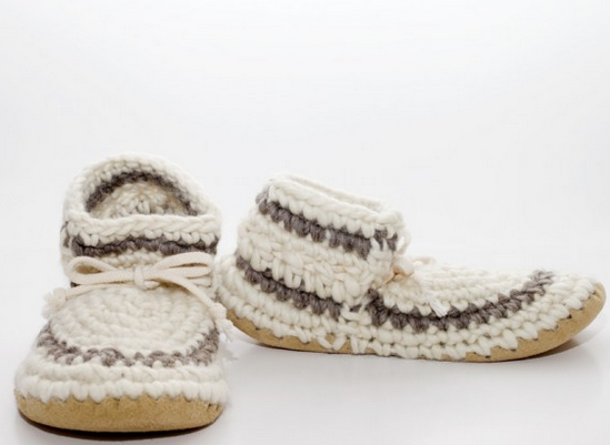Women's Slippers - Cream Stripe
