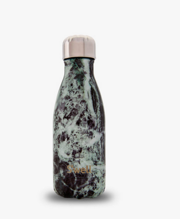 Insulated Stainless Steel Bottle - Baltic Green Marble