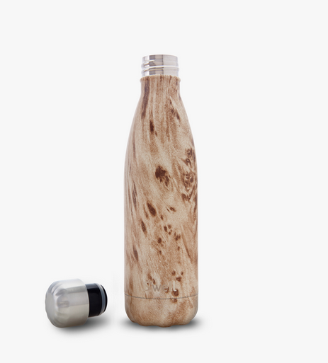 Insulated Stainless Steel Bottle - Blonde Wood