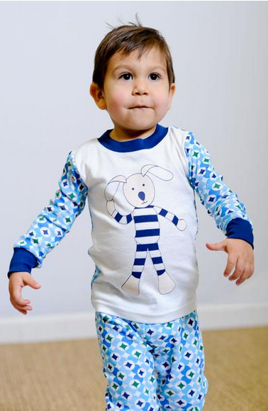 Baby & Kids Long Johns - Prism Print Navy