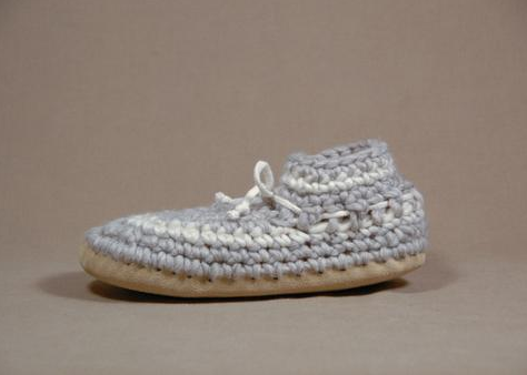 Women's Slippers - Grey Stripe