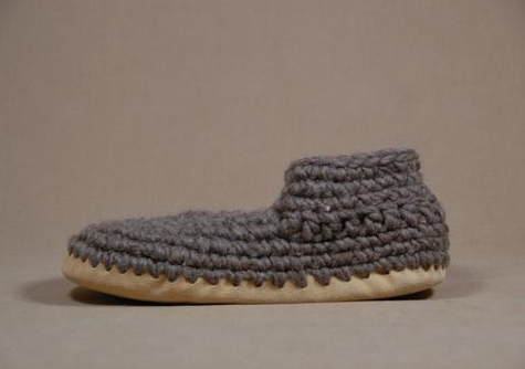 Men's Slippers - Grey Solid