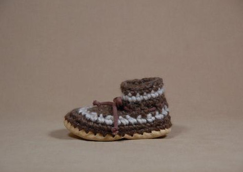 Baby & Child Slippers - Brown Stripe