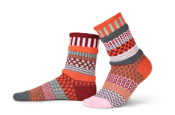 Persimmon Adult Crew Socks