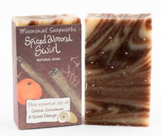 Spiced Almond Swirl Natural Soap