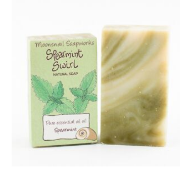 Spearmint Swirl Natural Soap