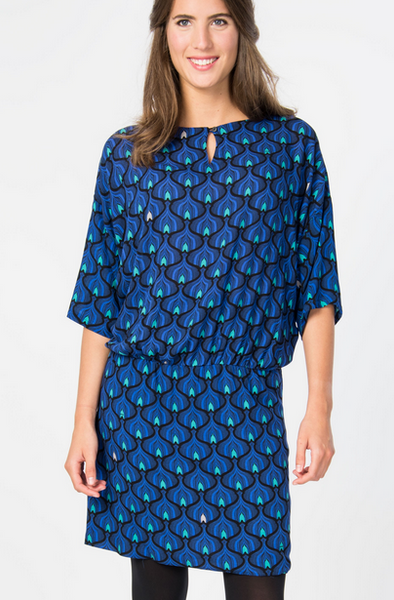 Sare Dress - Royal Blue Print