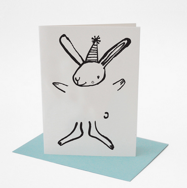 Dress Up Bunny Greeting Card