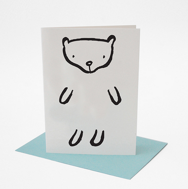 Dress Up Bear Greeting Card