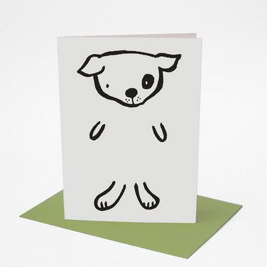 Dress Up Dog Greeting Card