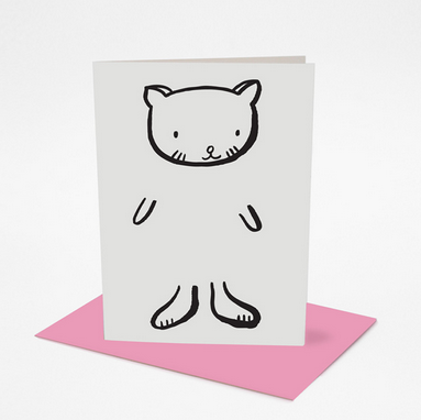 Dress Up Cat Greeting Card