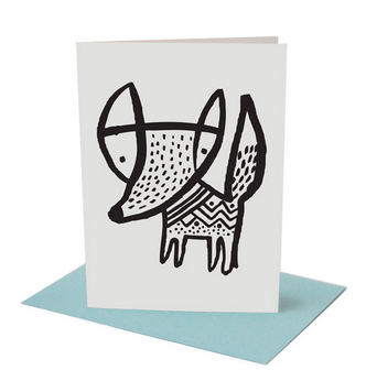 Fox Greeting Card (Blank Inside)