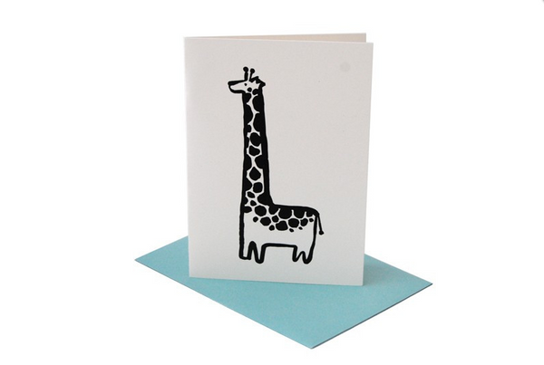 Giraffe Greeting Card (Blank Inside)