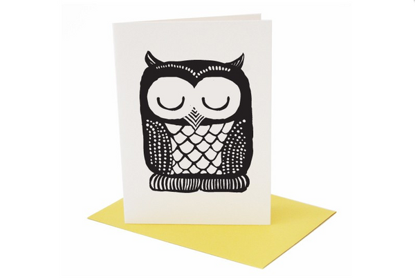 Owl Greeting Card (Blank Inside)