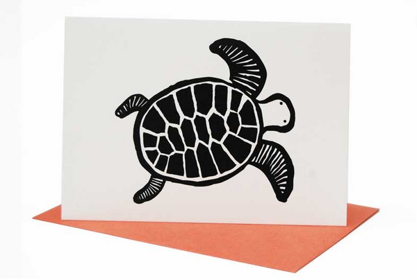 Turtle Greeting Card (Blank Inside)