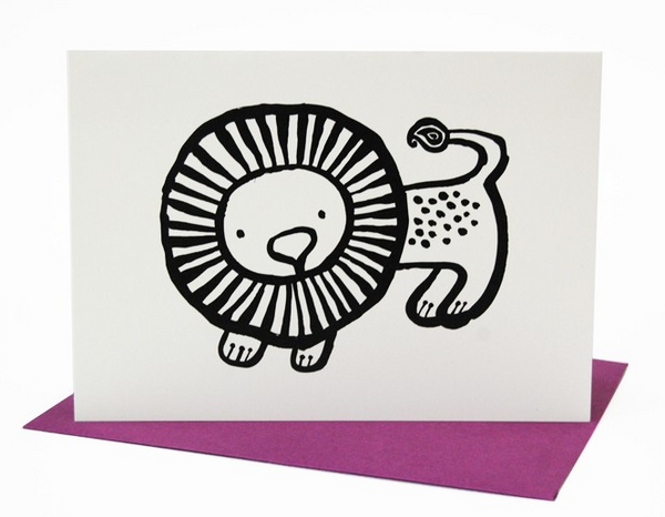 Lion Greeting Card (Blank Inside)